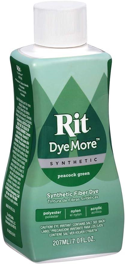 Rit DyeMore Tinte líquido para sintéticos, fórmula Avanzada, Materiales sintéticos, Multicolor, 5.08 x 6.35 x 15.24 cm