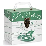 Tunes-Tote 'Dancers Green' Storage & Carry Case for 45 RPM Records (4502)