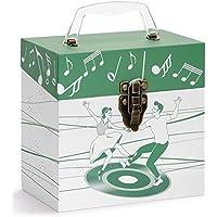 TUNES-TOTE DANCERS GREEN 45 RPM 7 VINYL RECORD STORAGE - PROTECTIVE VINYL CARRY BOX