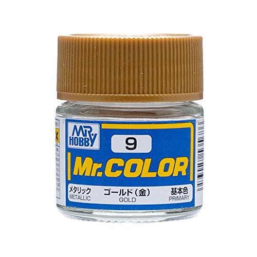 Gundam Mr. Color 9 - Gold (Metallic / Primary) Paint 10ml. Bottle - C9 Colours