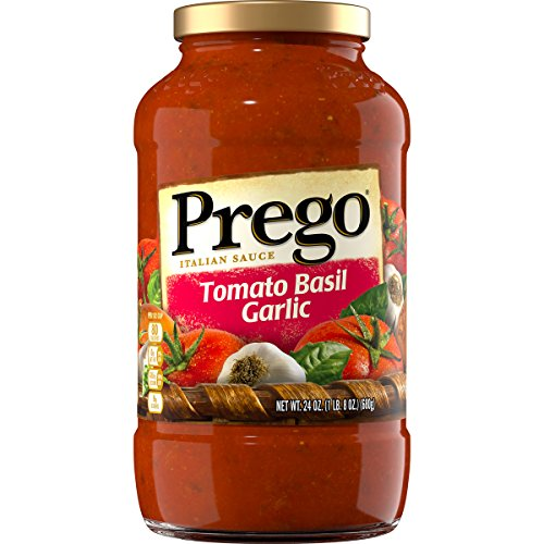 Prego Tomato Sauce - Prego Italian Pasta Sauce, Tomato Basil Garlic, 24 Ounc