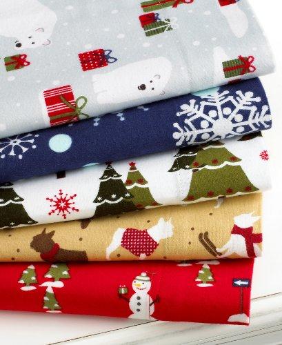 "Martha Stewart ""Festive Firs"" Full Flannel Sheet Set"