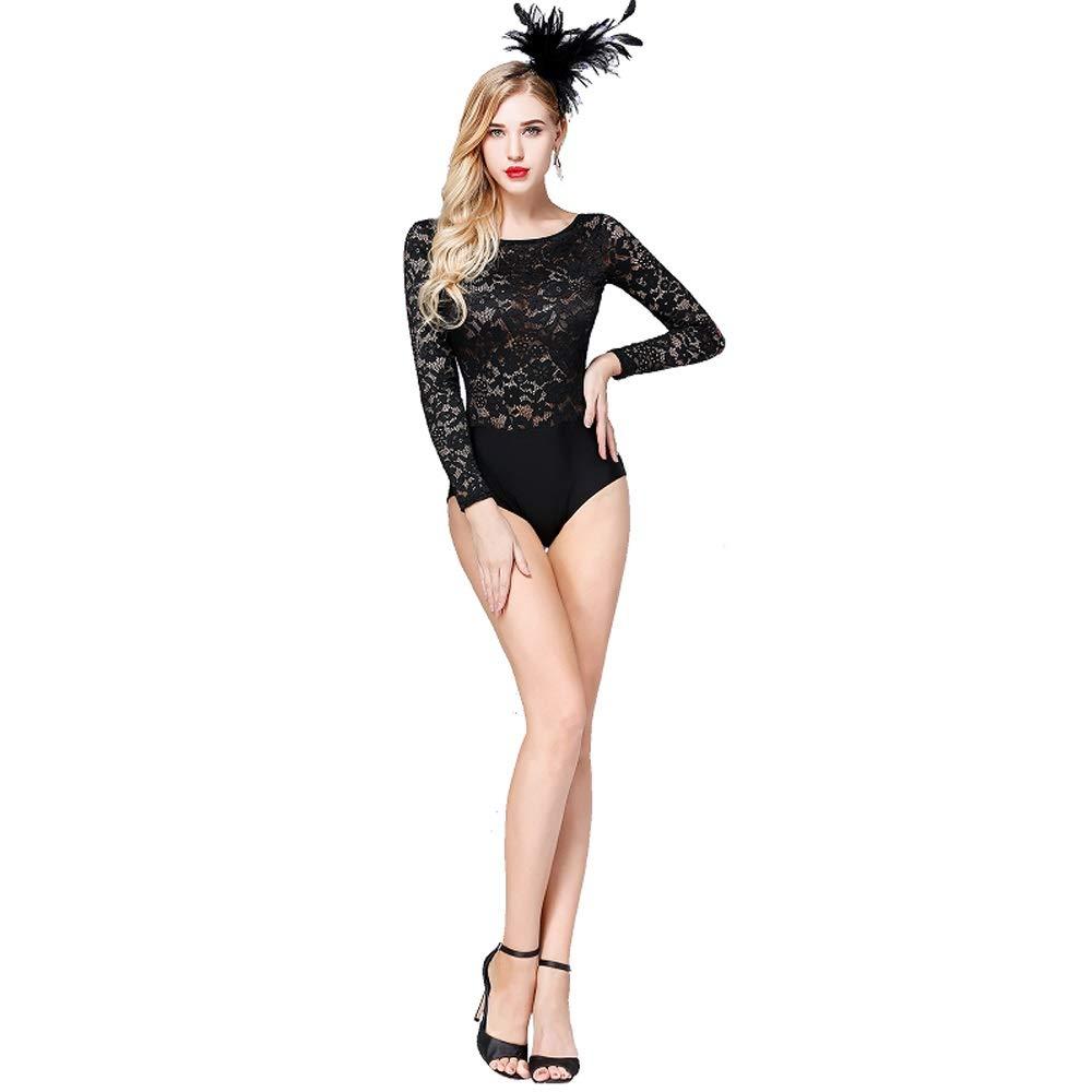 D Taille unique Jian E& Ballet Exercice VêteHommests Adulte Art ExaHommes Gymnastique Danse Latin Shirt Combinaison Yoga Aérien