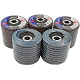 """Premium Zirconia Flap Disc 4-1/2"""" X 7/8"""" 40 GRIT Pack of 50"""