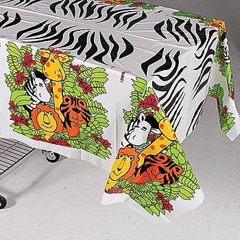 Zoo Animal Party Tablecloth]()