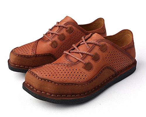 2017 nuevos zapatos huecos del cuero respirable de la marea del verano Zapatos de los hombres respirables del agujero de los zapatos respirables cómodos cómodos 2