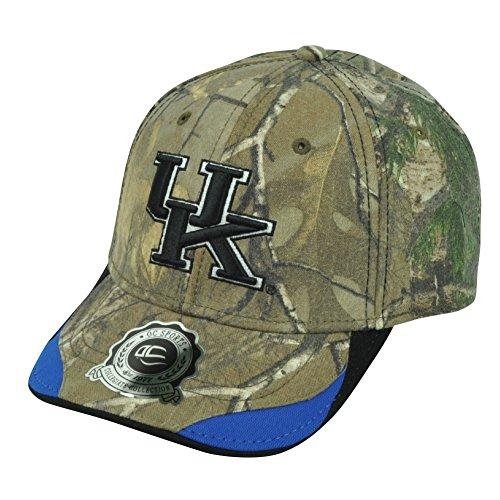 NCAA Kentucky Wildcats Camouflage Camo Clip Buckle Real Tree Hat Cap OC Sports (Kentucky Wildcats Hat Clip)