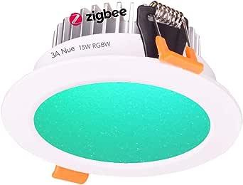 9W, 12W, 15W Smart ZigBee RGBW LED Downlight Kit Light Bulb Working with Echo Plus and Compatible ZigBee Bridge and Hub for Smart Home Automation Google Home Amazon Echo Dot Echo Plus Alexa Voice Control … (15)