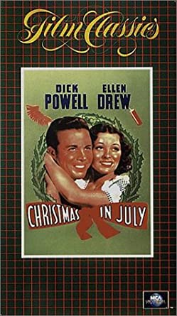 Christmas In July Movie.Amazon Com Christmas In July Vhs Preston Sturges Movies