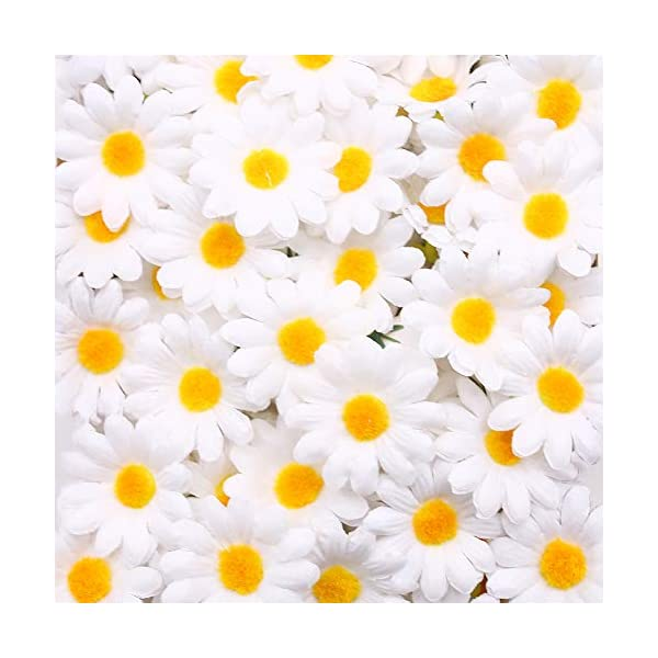 Johouse-Artificial-Daisy-200PCS-Silk-Daisy-Artificial-Gerber-Daisy-Artificial-Chrysanthemum-Daisy-Flowers-Heads-for-Wedding-Decoration-Home-Decoration-15inch-White