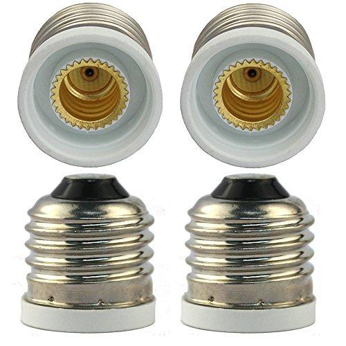 4 x E26 to E12 Socket Adapter, Convert your E12 Bulb Base to fit E26 Female Socket, 4-Pack
