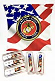MC10 LICENSED MARINE CORPS ACRYIC PEN BLANK FITS 30 CAL BOLT ACTION USA FLAG WITH LOGO