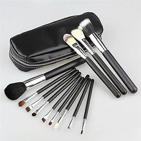 Mac – Juego de 12 brochas profesionales de maquillaje en estuche con cremallera: Amazon.es: Hogar