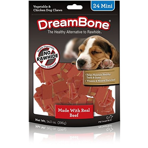 Dreambone Beef Dog Chew, Mini, 24 Pieces/Pack ()
