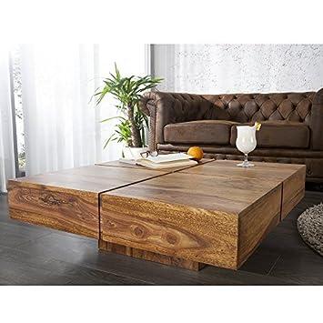 mesa de centro bolto de madera maciza de sheesham 80 x 30 x 80