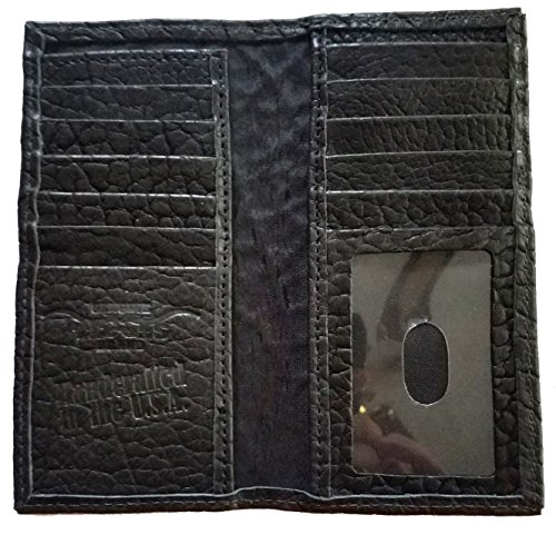 MADE IN Checkbook Long Custom Hide American Garland Black Buffalo Proudly THE USA Fancy Star Wallet x8w7nYqP8