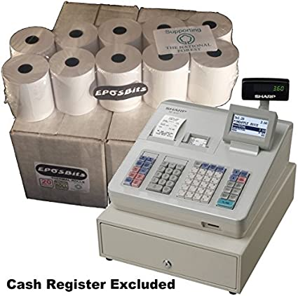 EPOSBITS® - Rollos para caja registradora Sharp XEA-307 XE-A307 ...