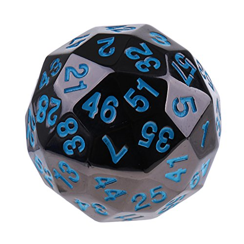 Baoblaze 38mm Opaque 60 Sided Digital Dice D60 Die Props for D&D RPG Board Games #3 by Baoblaze