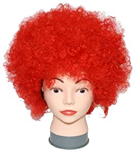 Aunt of Osaka vivid color Afro wig wig cosplay costume party Stage Costume / Red red red flashy surprised super de (japan import)