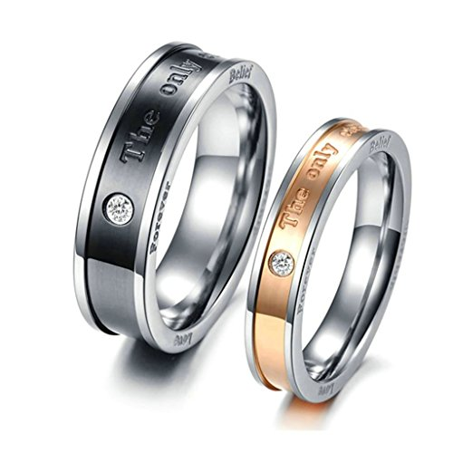[MoAndy 2Pcs Her His Wedding Rings
