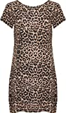 WearAll Women's Plus Size Leopard Print Short Sleeve Top - Brown - US 18-20 (UK 22-24)