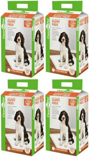 Clean Go Pet 400 22x23 4 Cup Puppy Training Pads by Clean Go