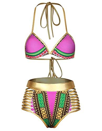 SETENOW African Dashiki Metallic swimsuit