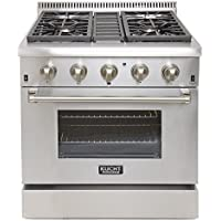 Kucht KRD306F Professional 30 4.2 cu. ft. Dual Fuel Range for Natural Gas, Stainless-Steel