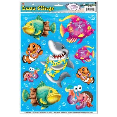 Luau Window Clings (Pack of 48)