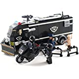 Police SWAT Riot Vehicle and Motorcycle - Building Block Toy