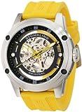 Stuhrling Original Men's 314R.3316G65 Leisure Zolara 360 Automatic Skeleton Yellow Rubber Strap Watch