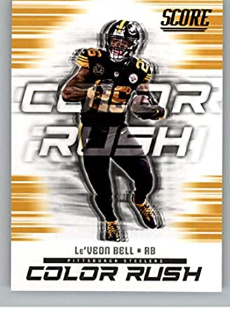 c843069ea1c 2018 Score Color Rush Gold #12 Le'Veon Bell Pittsburgh Steelers Football  Card
