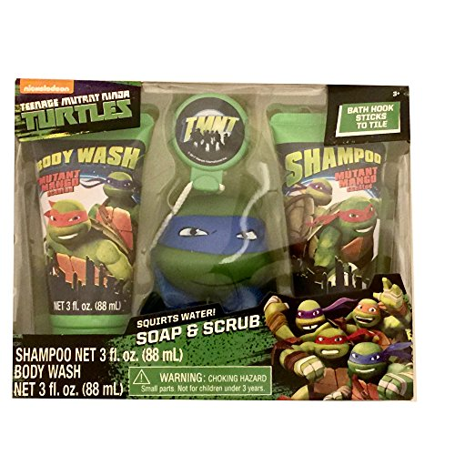 Soap & Scrub Themed Shampoo and Body Wash Bath Set (Teenage Mutant Ninja (Colorado Scrub)
