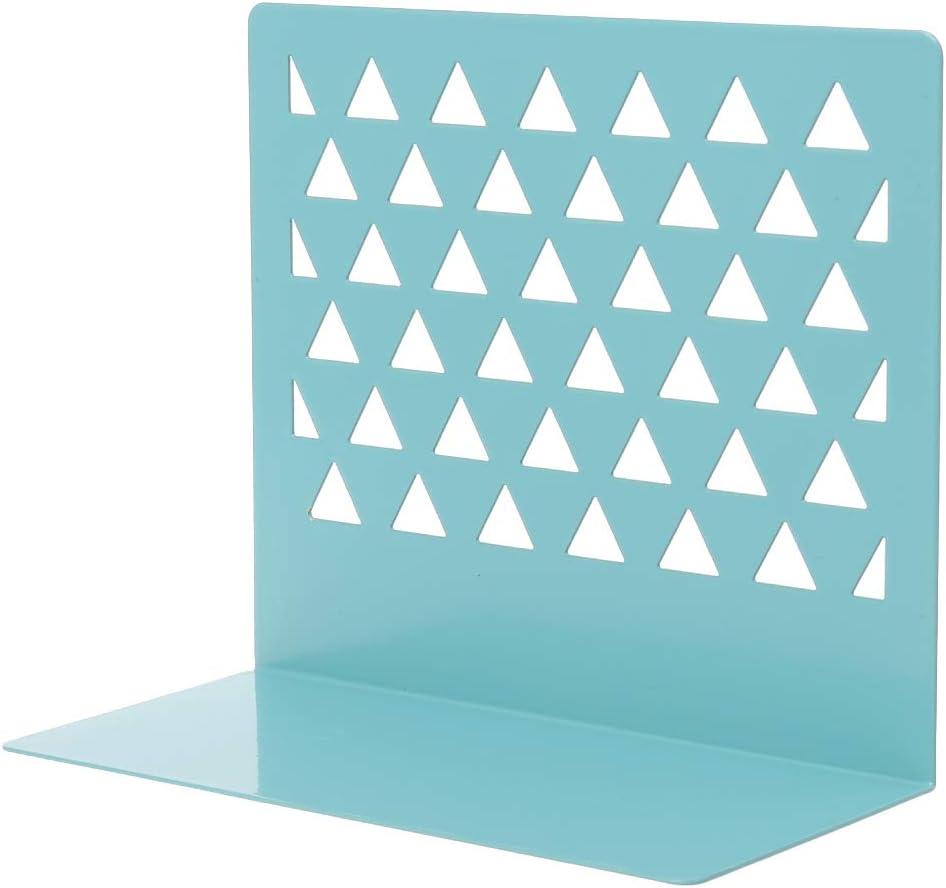 Yanhonin Sujetalibros de Metal Hueco Soporte de Almacenamiento para Libros Suministros de Oficina en casa