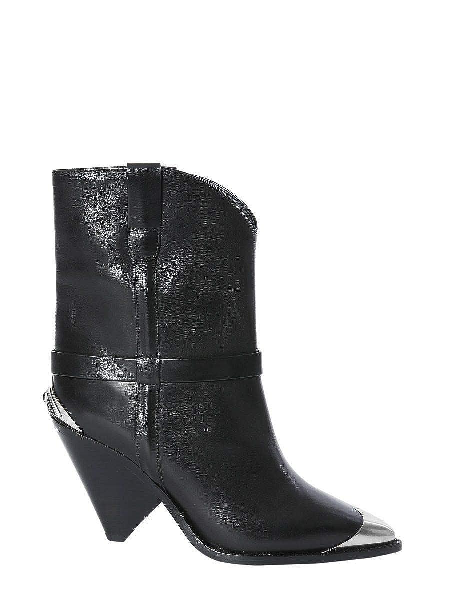 - ISABEL MARANT ÉTOILE Women's BO019419P001S01 Black Leather Ankle Boots