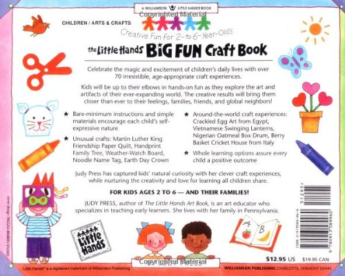 Amazon Com The Little Hands Big Fun Craft Book Creative Fun For 2