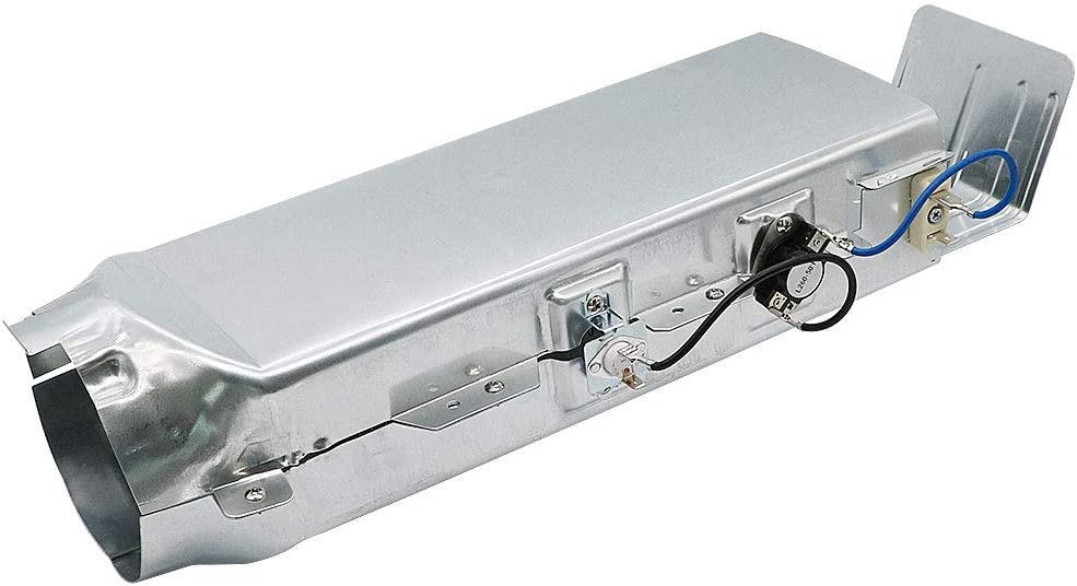DC97-14486A Dryer Heating Element Heater Duct Assembly for Samsung Dryer Includes Heating Element, Housing Duct, High Limit Thermostat, and Thermal Fuse Dryer Repair Kit Replacement DC97 14486A