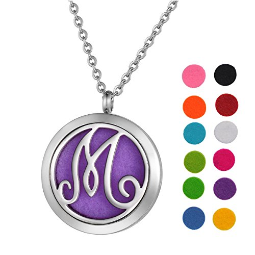 Stainless Steel Aromatherapy Essential Oil Diffuser Necklace with - Letters To Young Lovers