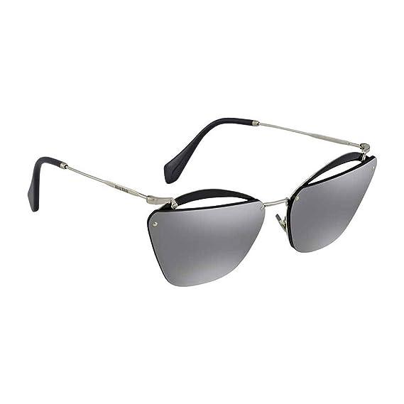 ebb2a0c697c5 Miu Miu Women's 0MU54TS KJW7W1 64 Sunglasses, Grey Silver: Amazon.co ...