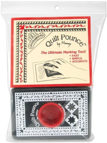Hancy 4 oz Quilt Pounce Pad with Chalk Powder, White by Hancy