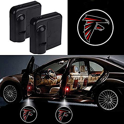 For Atlanta Falcons Car Door Led Welcome Laser Projector Car Door Courtesy Light Suitable Fit for all brands of cars (Atlanta Falcons)