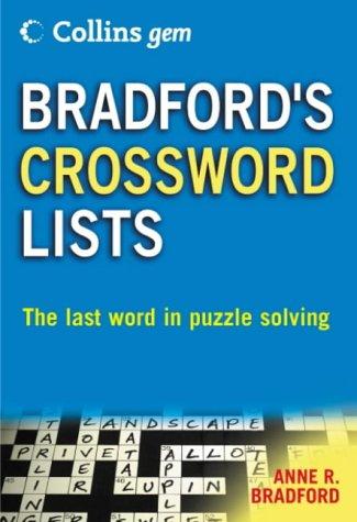 Collins Gem Bradford S Crossword Lists Amazon Co Uk Bradford Anne R 9780007191574 Books