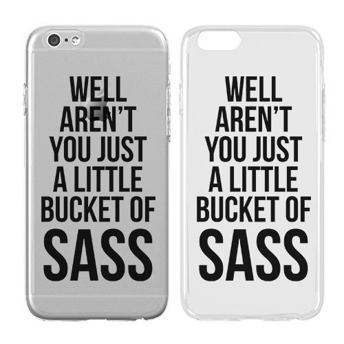 - Compatible for iPhone X - Cream Cookies - Ultra Slim Hard Plastic Cover Case - Well Arent You Just A Little Bucket of Sass - Sassy - Funny Quotes - Punk