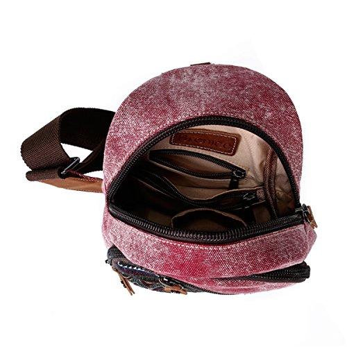 Floral Casual Bag Women for Sling for Canvas Brenice Bag Crossbody Women Black Vintage Shoulder wX05apq