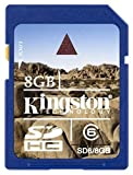 Kingston 8 GB Class 6 SDHC Flash Memory Card SD6/8GB