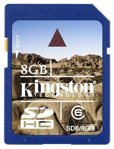 Kingston Technology 8GB SDHC Class 6 Flash Card Memoria ...
