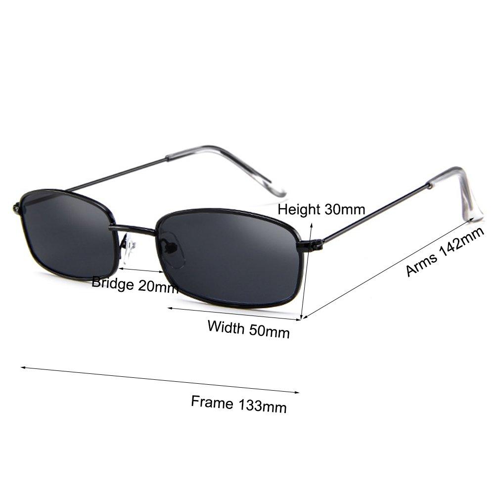 d67e8939d88f Amazon.com  Armear Vintage Small Sunglasses Women Men Retro Square Acrylic  Lens (Black smoke