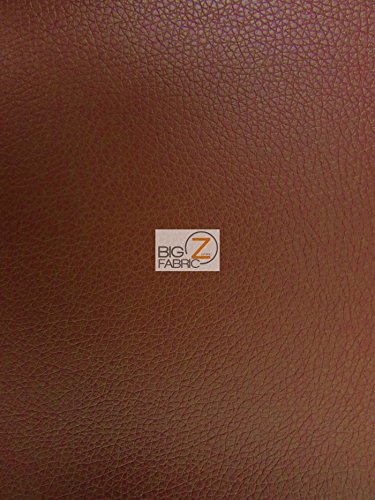 """VINYL FAUX FAKE LEATHER PLEATHER KENTAKY TEXTURE SOFT PVC FABRIC - Light Brown - 53"""" WIDTH SOLD BY THE YARD"""