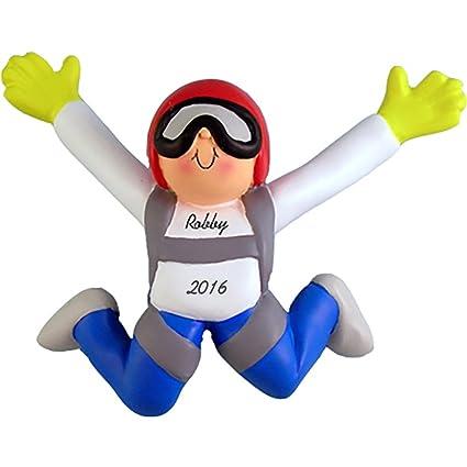 Amazon.com: Skydiver Personalized Christmas Ornament - Male ...