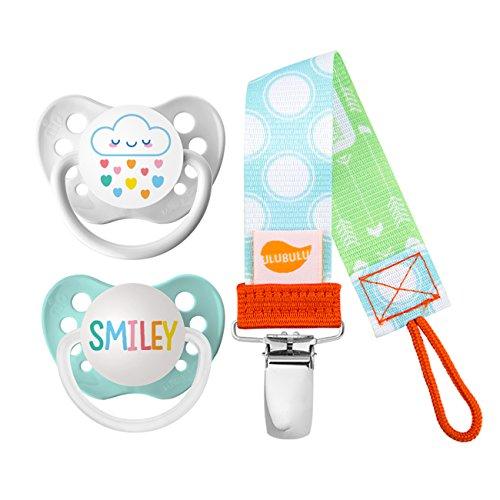 (Ulubulu Rainbow Cloud and Smiley Designs/Pacifier, 0-6 Months)